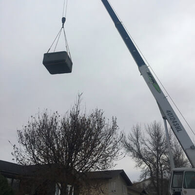 Crane Lifting Object