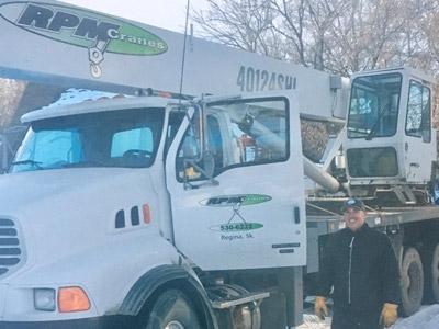 RPM Cranes LTd. Truck and OWner